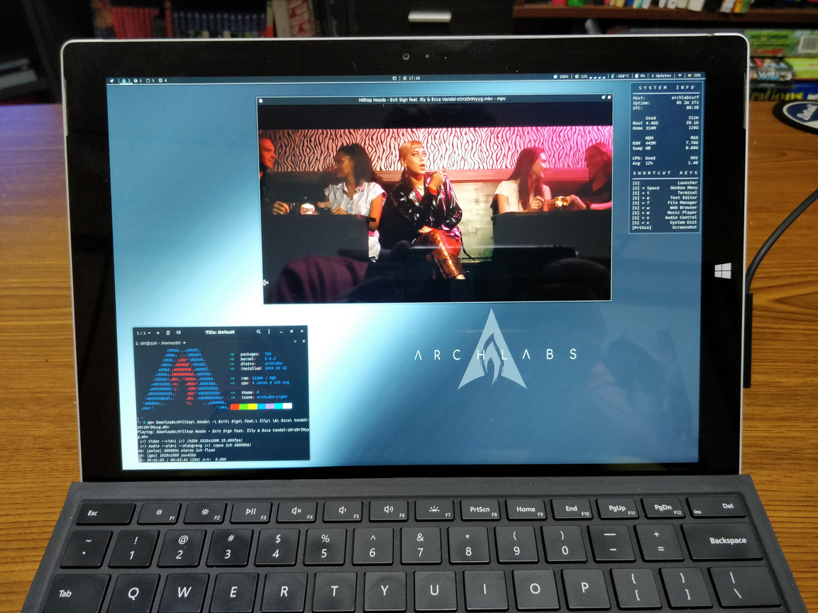 Surface Pro 3 Triple Boot Part 3: ArchLabs Linux :: drt sh — execute